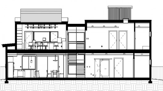 H_house_section1 on Green Concept Home Modus V Studio Architects