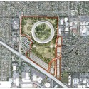 Apple Campus in Cupertino, Foster + Partners, ARUP & Kier + Wright (49) Proposed conceptual site plan © Foster + Partners, ARUP, Kier & Wright, Apple
