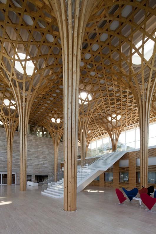 Nine bridges country club shigeru ban architects archdaily for Architecture ephemere shigeru ban