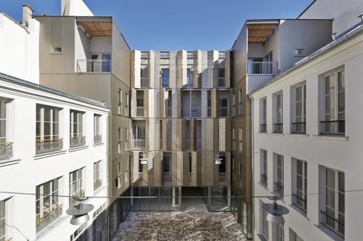 Le marais social housing and offices atelier du pont - Atelier du marais agencement ...