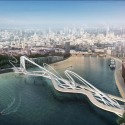 "London's Battersea Bridge Competition is a Symbol of a Divided City ""The Spaffy Tangle"". Image Courtesy of Nine Elms Vauxhall Partnership"