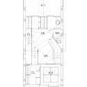 House in Ningyo-cho / K+S Architects Third Floor Plan