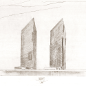 Harumi Residential Tower  / Richard Meier & Partners Architects Sketch