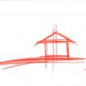 KOU-AN Glass Tea House / Tokujin Yoshioka Drawing