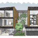 Townhouses with Private Courtyards / baan puripuri Sketch  Townhouses with Private Courtyards / baan puripuri 55480b87e58ece502900066b townhouses with private courtyards baan puripuri baan puripuri 18 sketch 125x125